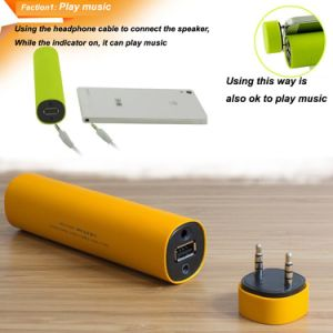 Mini Portable 2800mAh Bluetooth Speaker Power Bank with Holder pictures & photos