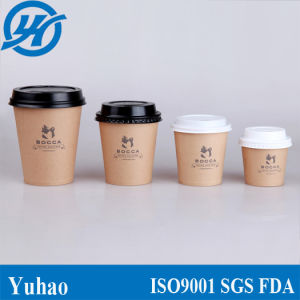 4/6/8/12oz Kraft Brown Paper Cup Coffee Cup (YHC-004) pictures & photos