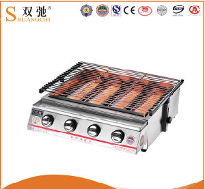 Commercial Catering Equipment Indoor Gas BBQ Grill for Sale pictures & photos