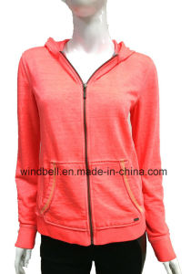 Fluorescent Fashionable Hoody for Women with Dirty Wash pictures & photos