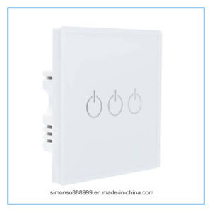 Home Use Three Way Smart WiFi APP Remote Control Wall Switch with Touch Control pictures & photos