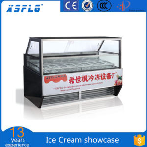 Ice Cream Showcase Ice Cream Display Freezer pictures & photos
