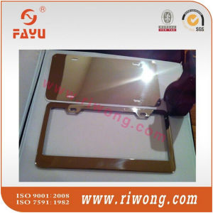 Stainless Steel Polish Mirror License Plate Frame with Screws and Caps pictures & photos