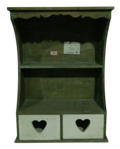Wall Hanging Cabinet with Two Heart Shaped Drawers