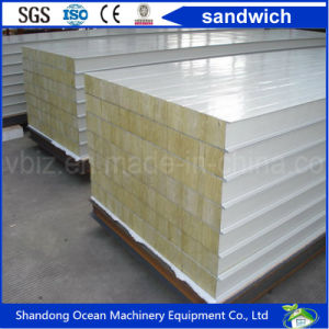 Rrockwool / Glasswool / EPS / PU Sandwich Wall Panel Roof Panel for Prefabricate Building House pictures & photos