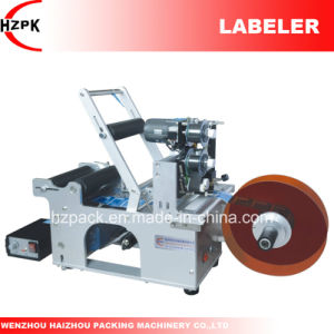 Semi-Auto Round Bottle Labeler Labeling Machine with Coder From China pictures & photos