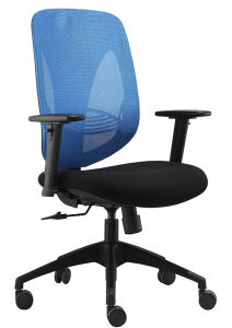 High Mesh Back Cushion Fabric Office Chair Swivel Computer Nylon High Base Chair (LDG-825A) pictures & photos