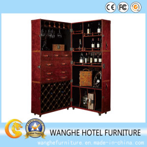 Customize Moved Fold Leather Wine Cabinet pictures & photos