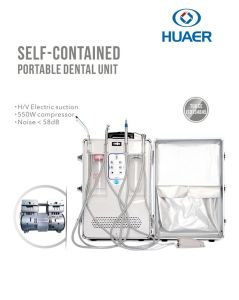 550W Built in Air Compressor Trasnported Portable Dental Unit pictures & photos