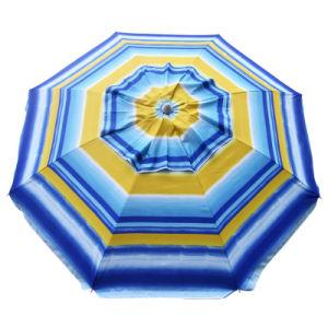 Beach Umbrella Sunburst Stripe 210cm 98% UV Protection pictures & photos