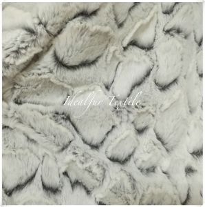 100% Polyester Soft PV Plush Fur with Discharge pictures & photos