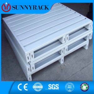 Powder Coating Half Spread Steel Pallet for Storage Rack