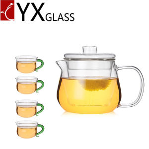 Hot Sale Borosilicate Glassware Heat Resistant Glass Teapot Kettle 500ml pictures & photos