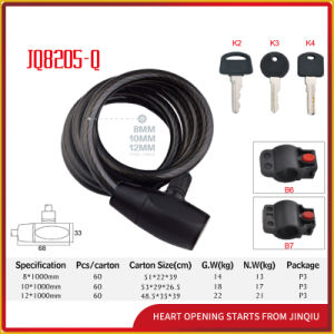 Jq8205-Q Safety Spiral Cable Lock Motorcycle Lock pictures & photos