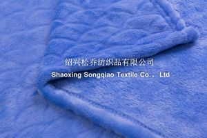 Embossed Flannel/Coral Fleece Blanket / Baby Blanket-Scale pictures & photos