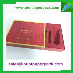 Custom Fancy Human Hair Jewelry Cardboard Box Perfume Box Cosmetic Paper Packing Box Candy Gift Packaging Box with PVC Flocking Tray pictures & photos