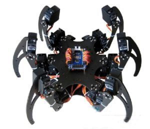 Arduino Controlled Al Hexapod Spider Six 3 Dof Legs Robot Frame Kit + Clamp Set Fully Compatible Arduino pictures & photos