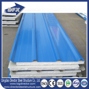PU/Fiberglass Insulation Board/EPS Foam Sandwich Panel for Wall and Roof pictures & photos