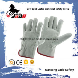 Gray Cowhide Split Leather Industrial Safety Driver Work Glove pictures & photos