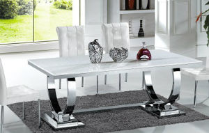 Modern Metal Furniture Marble Dining Table (A6008#)