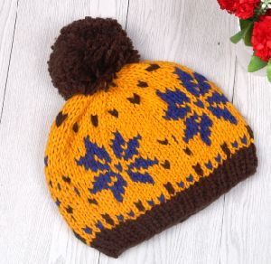 Winter Hat Knitted Hat with Fur POM POM Women Hat pictures & photos