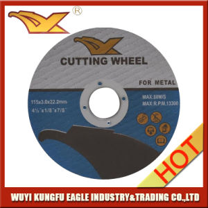 4.5′′ 115X3.0X22.2 mm T41 Abrasive Metal Cutting Discs with MPa En-12413 pictures & photos