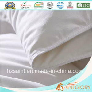 100% Cotton Fabric Down Comforter White Goose Feather and Down Blanket pictures & photos