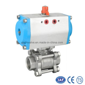Pneumatic Control Actuator Three Pieces Stainless Steel Ball Valve pictures & photos