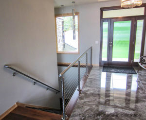 Interior Wire Railling Stainless Steel Cable Balustrade Round Pipe pictures & photos