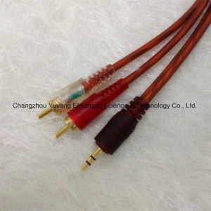 Hot 3.5 Stereo Plug to 2r Gold-Plated /AV Cable pictures & photos