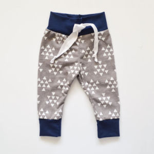 Solf Printing Boys Baby Pants with Decorative Cotton Tape pictures & photos