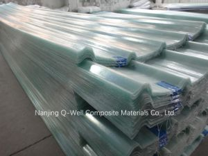 FRP Panel Corrugated Fiberglass/Transparent Fiber Glass Roofing Panels W171024 pictures & photos
