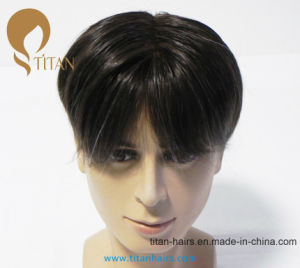 Top Quality 100% Remy Human Hair Toupee with Lace Frontal pictures & photos