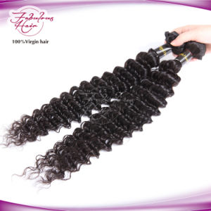 Deep Wave Peruvian Virgin Remy Hair Weft pictures & photos