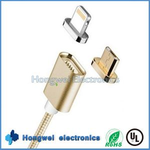 2 In1 Micro and 8 Pin Magnetic Charger USB Cable for Anfroid/iPhone ISO pictures & photos