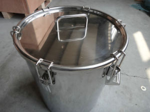 Stainless Steel 200L Clamp Sealed Drum pictures & photos