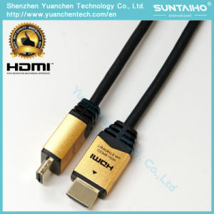 High Speed Aluminium Shell 24k Gold Plated HDMI Cable with Ethernet for 1080P/2160p pictures & photos