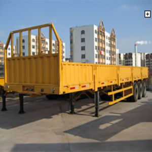 40ft 3 Axle Flat Bed Lorry Cargo Semi Trailer pictures & photos