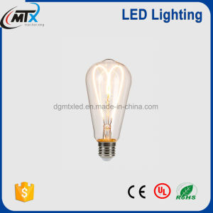 ST64 Heat Shape Epistar LED Large Filament Light Bulb soft bulb decro pictures & photos