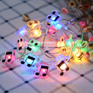 Music Shape Fairy String Lights AA Battery Powered Long Ultra Thin String Copper Wire for Christmas pictures & photos