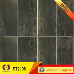 Black Double Loading Polished Porcelain Floor Wall Tile (T612606) pictures & photos