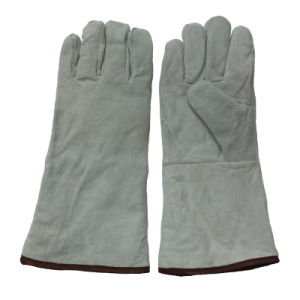 Boa Full Lining Winter Welding Gloves with Kevlar Thread pictures & photos