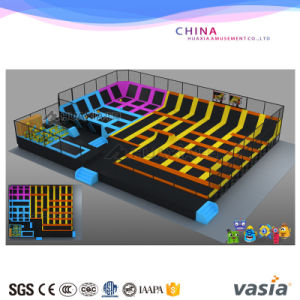 Indoor Easy Installation Colorful Trampoline for Sale with Safe pictures & photos
