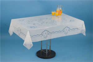 120*152cm New All-in-One Independent Design PVC Printed Transparent Tablecloth China Factory pictures & photos