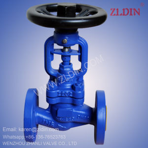 DIN Std. Pn40 Wj41h GS-C25 Bellow Sealed Globe Valve for Vacuum Service Wenzhou Valve Factory pictures & photos