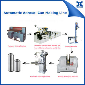 Automatic Aerosol Can Flanging Necking Equipment pictures & photos