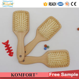 Detangling Comb Wholesale Custom Wood Paddle Hair Brush China Manufactures (JMHF-126) pictures & photos