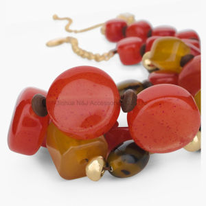 Colourful Beads Choker Vintage Pendants Statement Necklaces & Pendants Long Necklace Women Jewelry pictures & photos