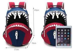 Boys and Girls Individuality Creativity Trend Shark Backpack School Backpack pictures & photos