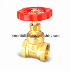 Brass Gate Valve with Aluminium Handle pictures & photos